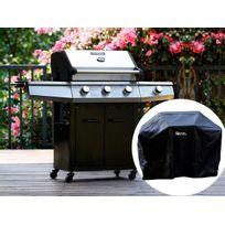 Habitat et Jardin - Barbecue Gaz Bingo 4 - 4 brûleurs dont 1 latéral - 14kW + Housse protection
