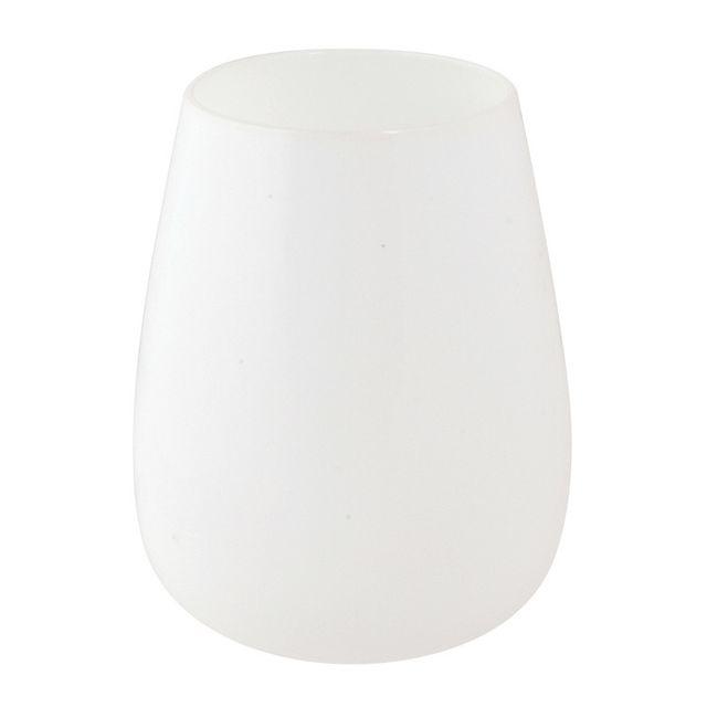 Salt & Pepper Verre à eau en verre opaque Blanc 50 cl - Set de 4 White