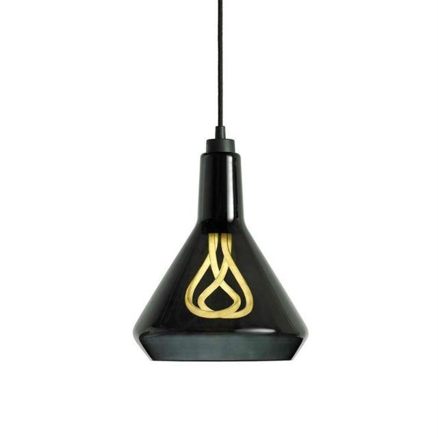 Plumen suspension Verre et Ampoule Original 001 Ø25cm Noir - designé par Samuel Wilkinson