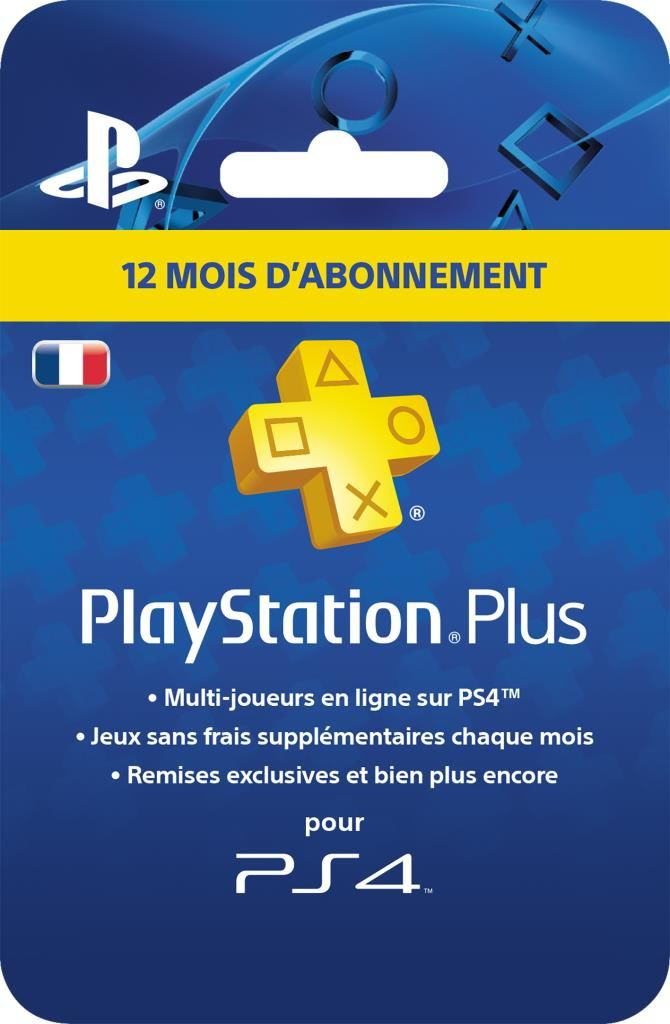 Carte Playstation Plus - Abonnement 12 mois