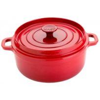 INVICTA - cocotte ronde en fonte émaillée 24cm rouge - 30224 rubis