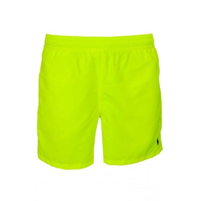 Ralph Lauren - Short de bain Hawaïen jaune fluo pour homme - pas cher Achat    Vente Slip de bain - RueDuCommerce a292bdcd1a7