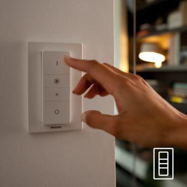 White Ambiance WELLNESS Lampe à poser 1x9.5W - Blanc (télécommande incluse)