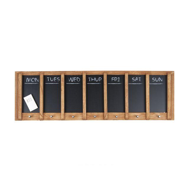Present Time   Semainier En Bois Et Ardoise 80x25cm Chalk