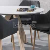 Table ronde blanche - catalogue 2019/2020 - [RueDuCommerce]