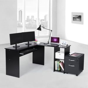 Rocambolesk superbe bureau informatique table for Meuble bureau 64
