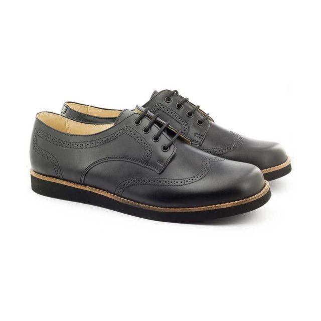 a984acf3101d9 Boni Classic - Boni Arthur - chaussure garçon en cuir noir - pas ...