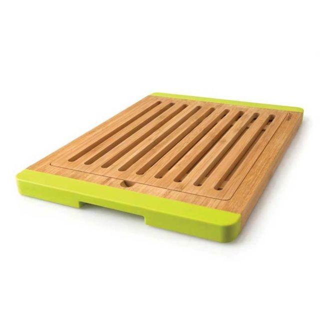 Berghoff Planche à découper avec ramasse miette en bambou et silicone - 38 x 27 cm Studio