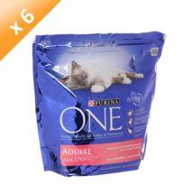 One - Croquettes au saumon et aux cereales completes pour chat 1.5kg x 6