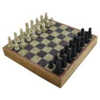 Royaltyroute - Jeu d'échecs de Pierre marbre à la main 25 x 25 cm