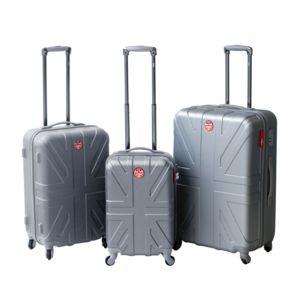 LEE COOPER - Set de 3 valises rigides FLAG - ABS - Argent 180