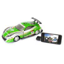 M-racer - Voiture 1/18 è radio commandée pour Iphone et Ipad - 2.4GHZ - Verte