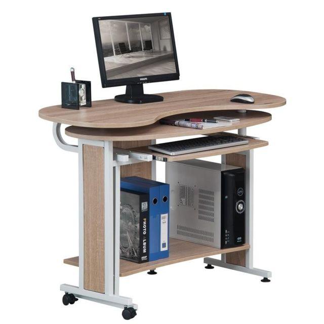 Bureau Table bureau Structure 3D 121x70cm Châssis métallique Table d/'ordinateur