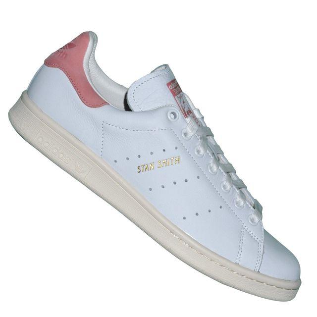 Adidas originals Baskets Stan Smith S80024 Blanc Rose Vieilli