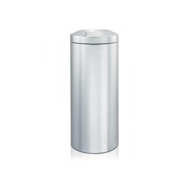 Brabantia Corbeille à papier pare-flamme 30 litres - Matt Steel