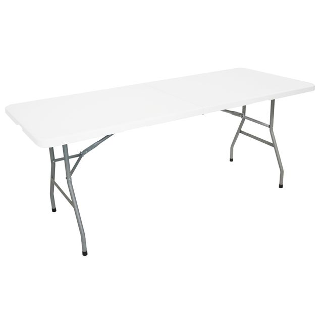MARQUE GENERIQUE - Table pliante multiusage - L 1,80 m - Blanc ...