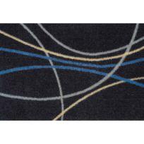 Allotapis - Paillasson noir lavable en machine en Nylon Tara