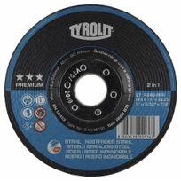 Tyrolit - Disque à ébarber métaux 'PREMIUM'-moyeu déporté-diamètre 125 mm-acier/inox