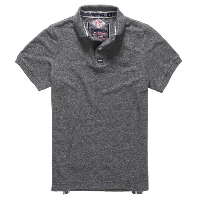 Superdry Classic Grindle Pique Polo Mc Homme Taille Xs