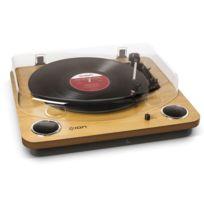 Ion - Max LP - Platine vinyle 33T / 45T / 78T - Conversion vinyle en fichiers numériques - Bois