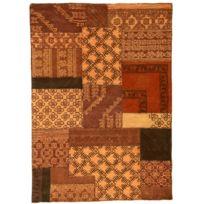 Bon COMFORIUM   Tapis Design Patchwork 170x240 Cm En Laine Coloris Orange  C Karachel