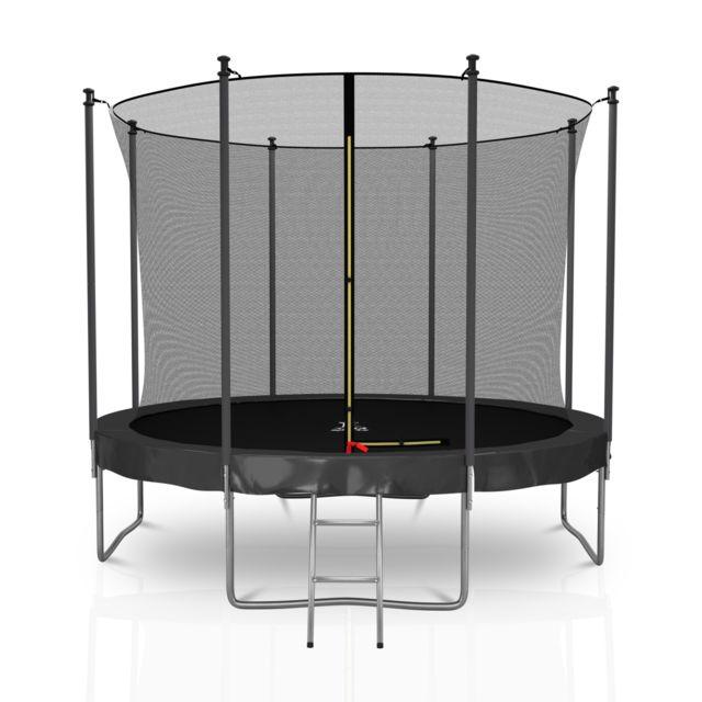 TRIGANO Trampoline avec Filet de s/écurit/é et /échelle 2,5 m