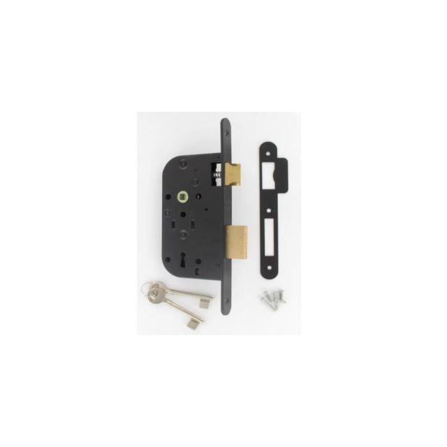 Serrure à larder à trou de clé L axe à 40//12 mm nickelée 1 clé gauche lot de 3