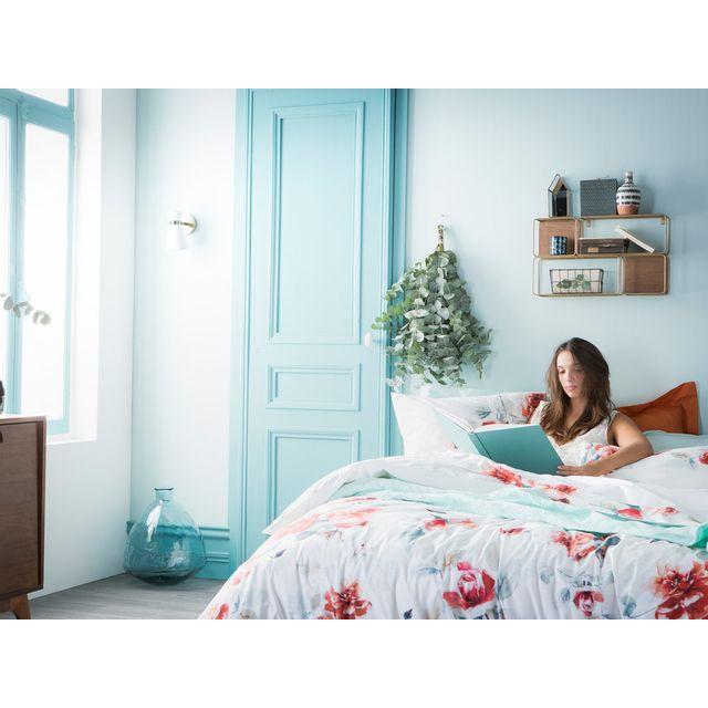 Essix - Housse de couette réversible 100% percale de coton fleur aquarelle rosace Emotions - 240x220cmNC Multicolore