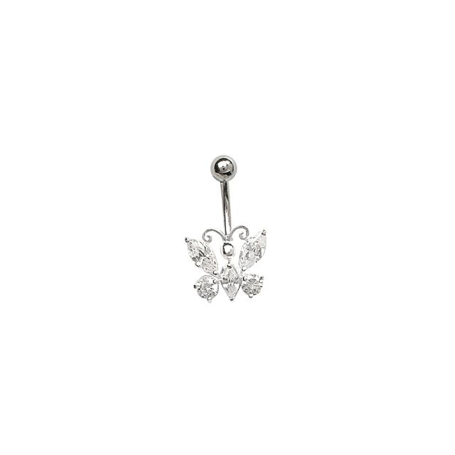 1001BIJOUX Piercing nombril papillon oxyde