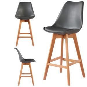 import diffusion 4 chaises hautes tabourets design scandinave gris skagen pas cher achat. Black Bedroom Furniture Sets. Home Design Ideas