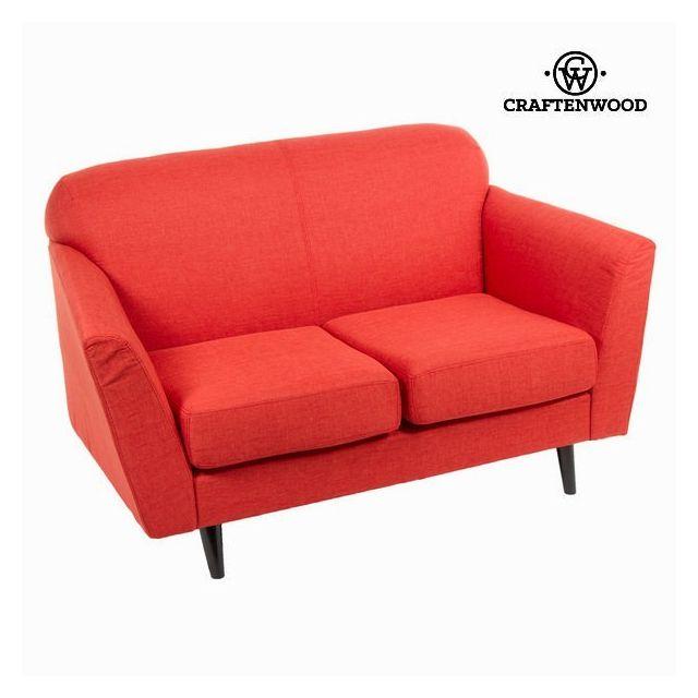 Marque Generique Canapé couleur rouge pour 2 places - Décoration vintage année 60 rétro
