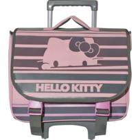 DISNEY - Hello Kitty - Cartable à roulettes - 1 Compartiment - L 38cm