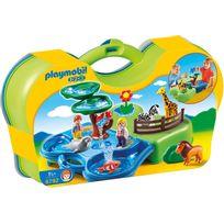 PLAYMOBIL - Zoo transportable avec bassins aquatiques - 6792