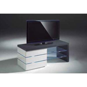 Marckeric diff meuble tv leon gris et blanc mat et for Deco meuble leon