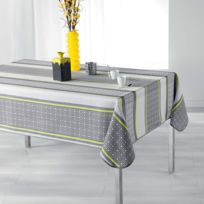 Douceur D'INTERIEUR - Cdaffaires Nappe rectangle 150 x 240 cm polyester imprime feliz Jaune
