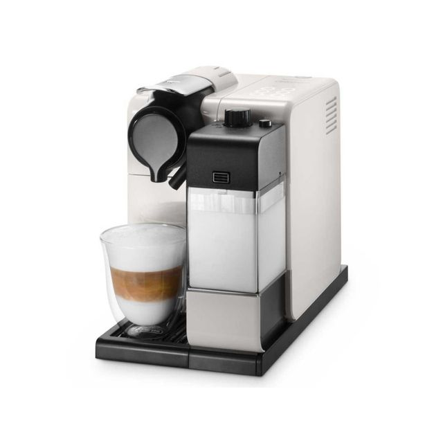 de 39 longhi delonghi cafeti re nespresso automatique 19 bars blanc avec pot lait en550 w. Black Bedroom Furniture Sets. Home Design Ideas