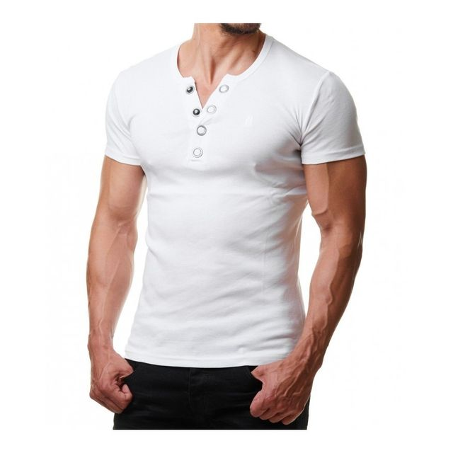 f4afe5f5e11 Beststyle - T-shirt homme moulant pas cher blanc - pas cher Achat ...