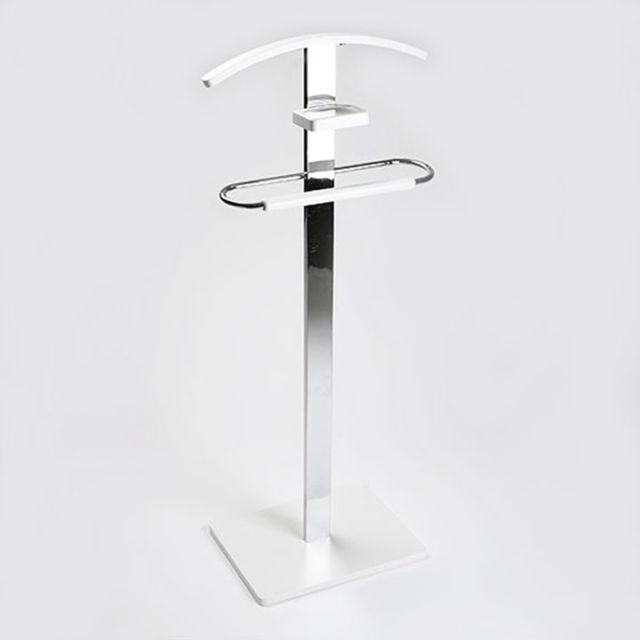 Versa - Valet de nuit blanc/aluminium - pas cher Achat / Vente Valet ...