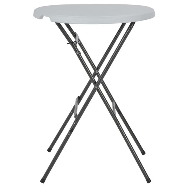 Icaverne - Tables d'extérieur categorie Table de bar pliante HDPE 80 x 110 cm Blanc