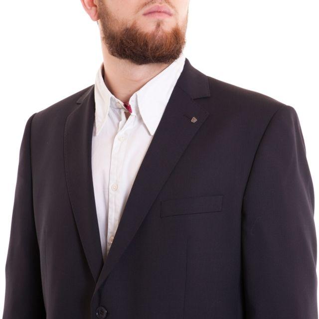 Klotz Veste de costume bleu marine