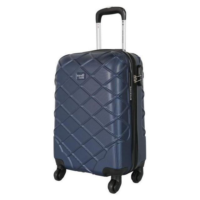 Travel World Valise cabine 55cm à 8 roues bleu marine