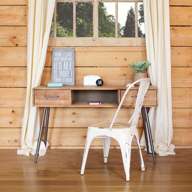 Made In Meubles - Bureau scandinave bois et métal   Y16