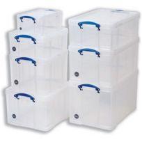 Really Useful - Boîte de rangement Box 64C en plastique transparent 64 l 710 x 440 x 310 mm