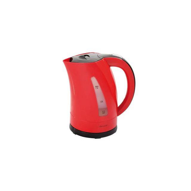 DOMOCLIP Bouilloire électrique bicolore rouge/noir DOM298RN