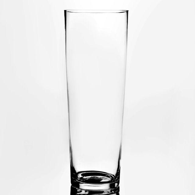 amadeus vase haut en verre transparent forme conique 17x45cm pure pas cher achat vente. Black Bedroom Furniture Sets. Home Design Ideas