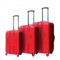 Lee Cooper - Set de 3 valises rigides Patch - Abs - Rouge