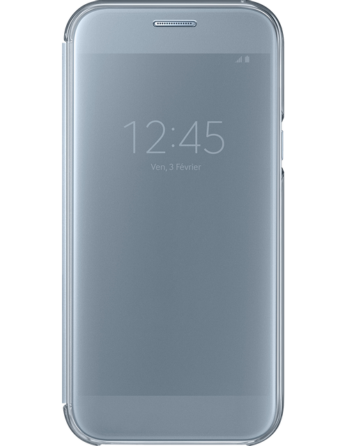 samsung clear view cover galaxy a5 2017 bleu pas cher achat vente coque tui smartphone. Black Bedroom Furniture Sets. Home Design Ideas