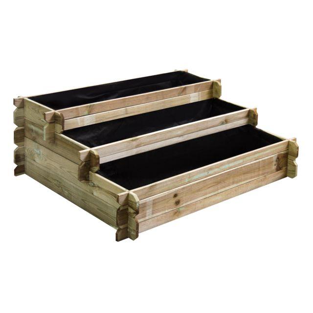 cemonjardin carr potager en bois tages petit mod le pas cher achat vente carr. Black Bedroom Furniture Sets. Home Design Ideas