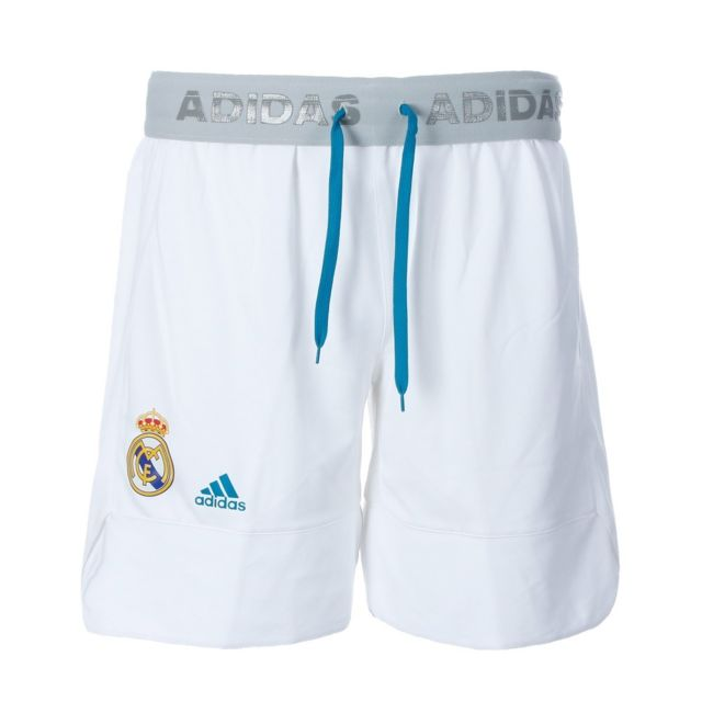 Adidas Real Madrid Short basketball blanc homme