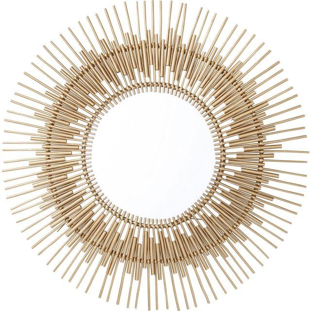 Karedesign Miroir Icario doré 90cm Kare Design